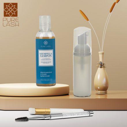 100 ml fragrance free eyelash shampoo with accessories