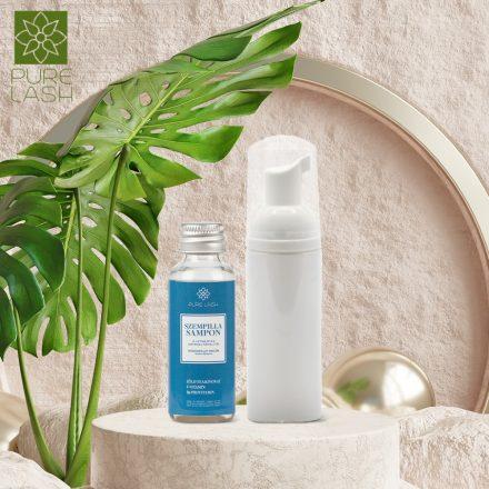 Unscented eyelash shampoo with foaming bottle - 30ml
