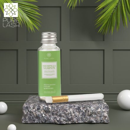 30 ml green tea scented eyelash shampoo with brush