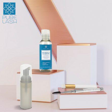 Fragrance free eyelash shampoo (50 ml) with accessories
