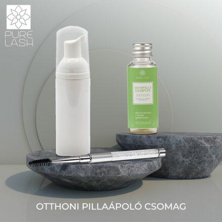 Home eyelash care package - green tea scented eyelash shampoo
