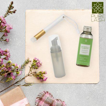 Eyelash cleanser midi package - green tea scented eyelash shampoo