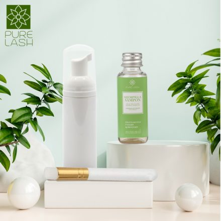 Čistiace balenie na mihalnice - šampón na mihalnice s vôňou zeleného čaju