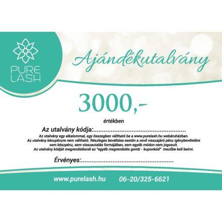 Ajándékutalvány 3000 Ft értékben