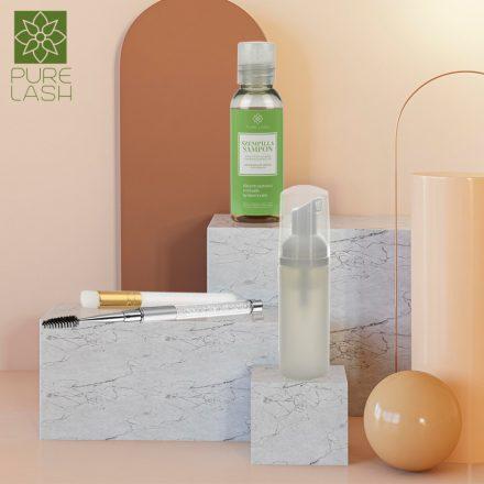 """All in"" Green tea scented eyelash shampoo package - 50 ml"